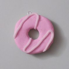 PArty Ring Charm/Pendant (Pink) - Handmade from fimo polymer clay. Textured back just like the real thing. More colours to come soon!