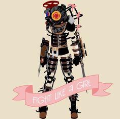 Big Sister poster | Fight like a girl | Bioshock art | Rapture, gaming, gamer girl #bioshock #gamerGirl