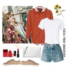 """""""Jungkook Girl YNWA"""" by awakewithu on Polyvore featuring RE/DONE, Jigsaw, Michael Kors, Ted Baker, Smashbox, Chanel, Marc Jacobs and Pier 1 Imports"""