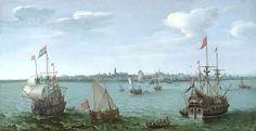 Gezicht op Hoorn in de VOC-tijd (1622). Hendrick Cornelisz Vroom