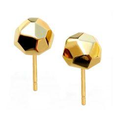 facet stud earrings #geometric