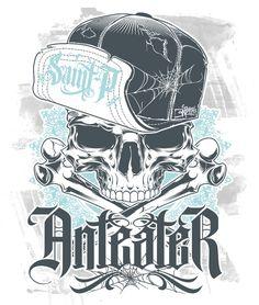 Mascot design for my rebranding as BeastPop ArtWorks. Pen & Ink with Photoshop. Gangster Tattoo, Aztecas Art, Graffiti, Mascot Design, Chicano Art, Line Artwork, Dope Art, Skull And Bones, Pin Up Art