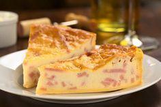 PASTEL DE JAMÓN AL MICROONDAS 300 gr. de jamón serran 20 rebanadas de pan de molde 2 huevos 1 vaso de leche 1 vaso de nata Sal Pimienta
