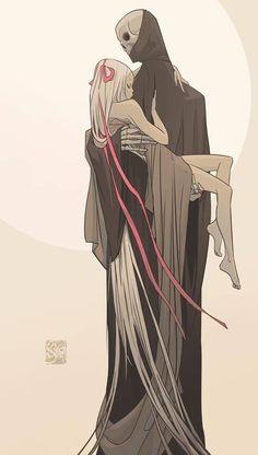 Otto Schmidt | Death carrying girl