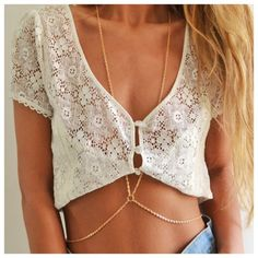Boho Body Chain Necklace