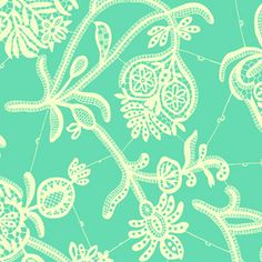 Designer: Amy Butler  Collection: Lark Sateen  Print Name: Souvenir in Mineral