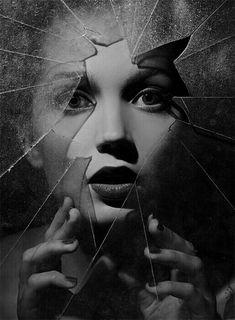 girl broken glass