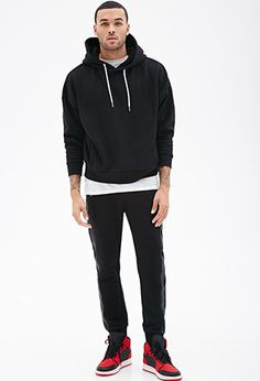 Dolman Sleeve Hoodie | 21 Men - 2000117526// Red or Black, so comfy!