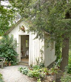 A quaint garden shed