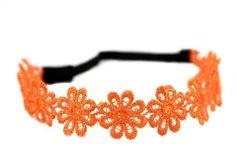 Headband avec belle fleurs #orange