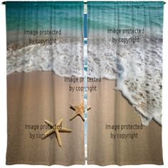 Starfish On The Beach Window Curtains, Available At Http://www.visionbedding