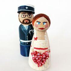 Mariage avec un gendarme - figurines personnalisés