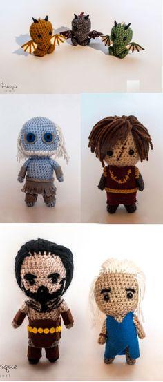 Super cute Game of Thrones Amigurumi from Merique Crochet!