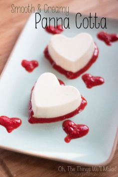 This delicate dessert is super easy to make, but sure to impress. It's without a doubt one of my favorites! This one is flavored with rose water, but you can use vanilla extract instead if you prefer. Great for Valentine's Day! Smooth and Creamy Panna Cotta - Oh, The Things We'll Make!