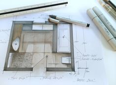 Floor Plans, Interior Design, Architecture, Instagram Posts, Sketches, Arquitetura, To Draw, Nest Design, Drawings