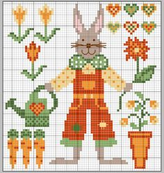 gazette94: PAQUES/ PRINTEMPS - Rabbit - cross stitch...