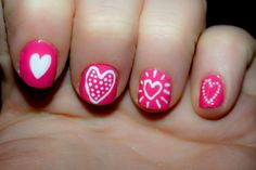 Nail Art Designs For Kids Pictures nail art easy for kids Nail Art Designs For Kids. Here is Nail Art Designs For Kids Pictures for you. Nail Art Designs For Kids easy nail art design without tools. Nail Art Designs, Girls Nail Designs, Heart Nail Designs, Nails Design, Diy Valentine's Nails, Pink Nails, Cute Nails, My Nails, Fancy Nails