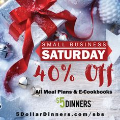 EXTENDED through Cyber Monday! 40% Off ALL Meal Plans & E-Cookbooks in the $5 Dinners Store