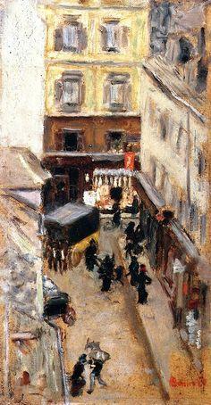 Narrow Street in Paris / Pierre Bonnard - circa 1897