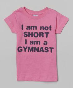Raspberry 'I Am Not Short' Tee - Infant Toddler & Girls