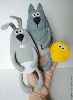 """Купить Пальчиковый театр """"Колобок"""" - разноцветный, колобок, пальчиковый театр, пальчиковые игрушки, пальчиковые куклы"""