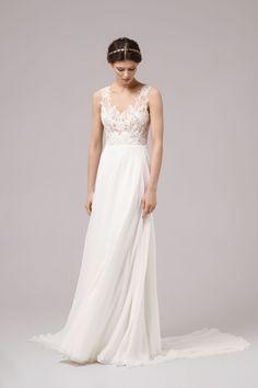 PHOEBE Bridal 2017 Anna Kara - romantic ethereal lace illusion wedding dress