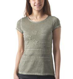 Short-sleeve top - Light khaki - Women - Tops -