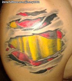 Spanish Flags, Watercolor Tattoo, Tattoo Ideas, Tatoo, Flag Tattoos, Spain Flag, Storage, Dibujo, Temp Tattoo