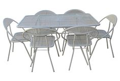 1960s Iron Mesh Table
