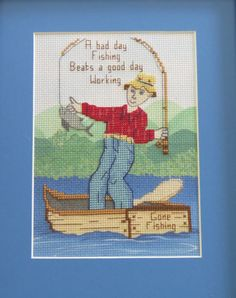 A personal favorite from my Etsy shop https://www.etsy.com/listing/170807983/a-bad-day-fishing-beats-a-good-day