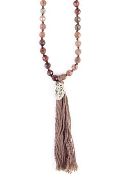 Chan Luu - Strawberry Quartz Mix Layering Tassel Necklace, $190.00 (http://www.chanluu.com/necklaces/strawberry-quartz-mix-layering-tassel-necklace/)