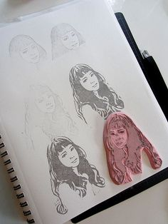 Amazing hand carved rubber stamp