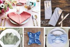 28 Napkin Folding Techniques That Will Transform Your Dinner Table ~ Idees And Solutions
