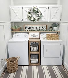☛☀ Functional And Stylish Laundry Room Design Ideas To Inspire (Make You. ☛☀ Functional And Stylish Laundry Room Design Ideas To Inspire (Make You Love it 39 Tiny Laundry Rooms, Laundry Room Wall Decor, Laundry Room Remodel, Laundry Room Organization, Laundry Room Design, Laundry Room Shelving, Laundry In Kitchen, Laundry Room Colors, Laundry Room With Cabinets