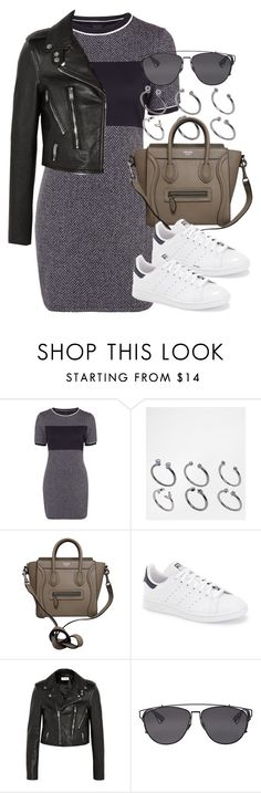 """Style #9881"" by vany-alvarado ❤ liked on Polyvore featuring Topshop, ASOS, CÉLINE, adidas, Yves Saint Laurent and Christian Dior"