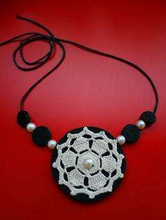 ao with <3 / crochet necklace