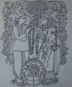 Ramananda Bandyopadhyay                               Ink on paper                               18 x 12 in INR 85000