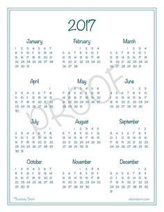free printable 2018 year at a glance calendar oh hey hannah