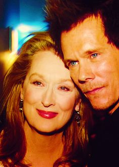 "With her ""The River Wild"" co star, Kevin Bacon"