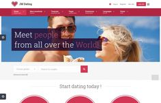 JM Dating -  excellent dating #Joomla 3.x #template based on new high quality EF4 #Framework.