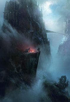 Cliff camp | by unknown ~ { concept art }