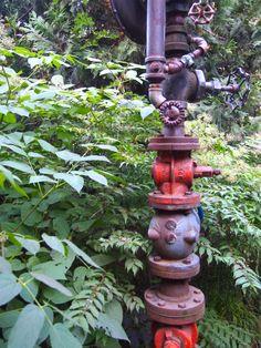 Pipe Garden Sculpture