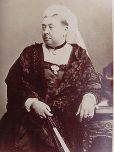 Cab C 1885 Queen Victoria of Great Britain who has an unfortunate mustache.  Shame!