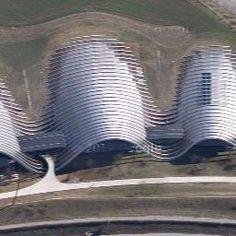 Renzo Piano, Zentrum Paul Klee, Bern, Switzerland - satellite view