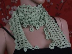 #Crochet Trefoil Lace Stitch Scarf #TUTORIAL how to crochet a scarf DIY SCARF - YouTube