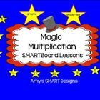Multiplication Magic is a  23 slide SMARTboard multiplication unit that includes lessons on the following: arrays, properties, and the multiplicati...