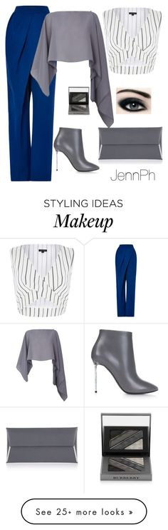 """Untitled #214"" by simplicityaruba on Polyvore featuring Vika Gazinskaya, River Island, Balenciaga, Henri Bendel, Damsel in a Dress and Burberry"