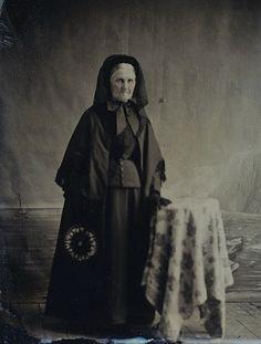 Deep in Mourning, Tintype, Circa 1873. Copyright Ann Longmore-Etheridge Collection.