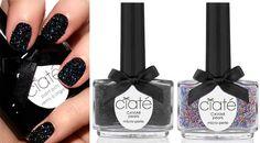 Unhas de caviar.. Se trata de uma decoração que imita o aspecto do caviar, e ela é feita com o uso de miçangas. http://ffw.com.br/noticias/beleza/unhas-caviar-sao-novidade-do-mercado-internacional-sera-que-a-moda-pega/