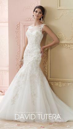 lace appliqus marier robes de marie david robes de marie tudela david robes de marie en dentelle robes de mariage de concepteur - Tati Mariage Paris